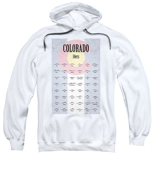 Colorado 14ers Poster Sweatshirt by Aaron Spong