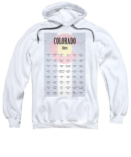 Colorado 14ers Poster Sweatshirt