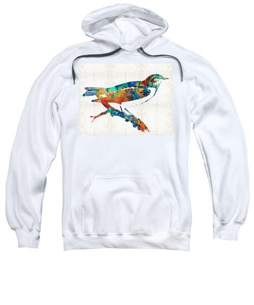 Colorful Bird Art - Sweet Song - By Sharon Cummings Sweatshirt by Sharon Cummings