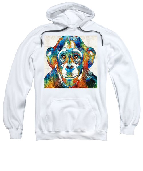 Colorful Chimp Art - Monkey Business - By Sharon Cummings Sweatshirt by Sharon Cummings