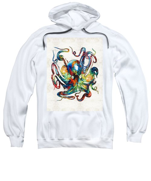 Colorful Octopus Art By Sharon Cummings Sweatshirt