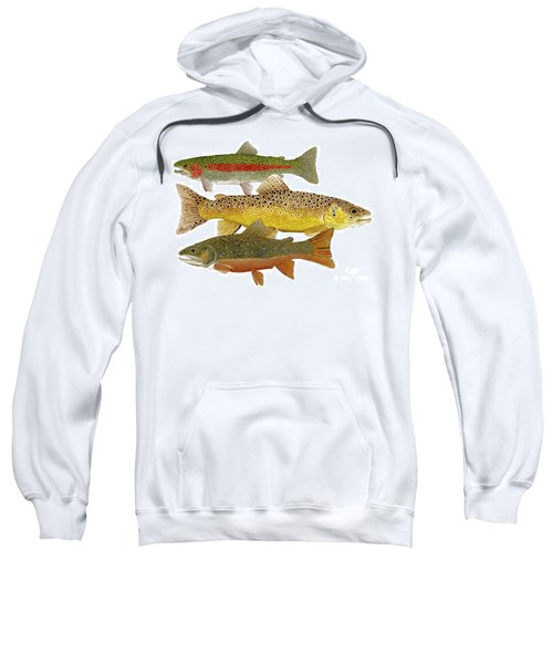 Common Trout  Rainbow Brown And Brook Sweatshirt