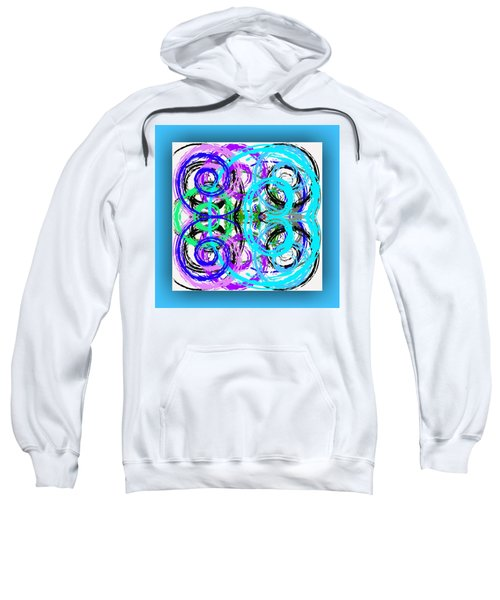 Sweatshirt featuring the digital art Composition - Turquoise by Mihaela Stancu