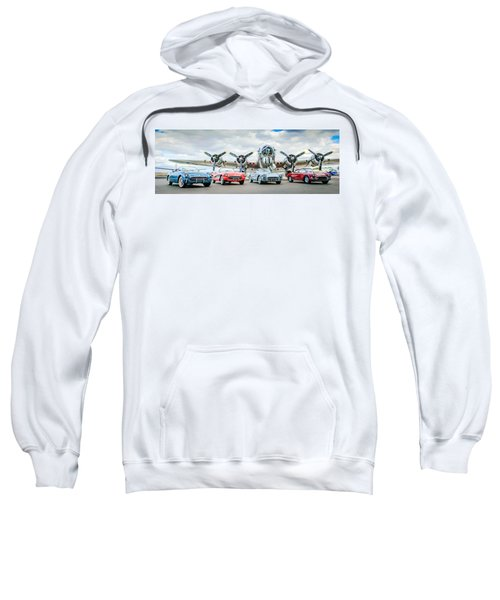 Corvettes With B17 Bomber Sweatshirt