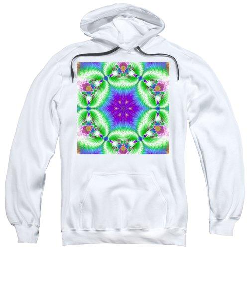 Cosmic Spiral Kaleidoscope 10 Sweatshirt