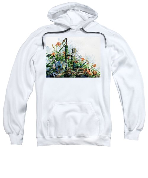 Sweatshirt featuring the painting Country Charm by Hanne Lore Koehler