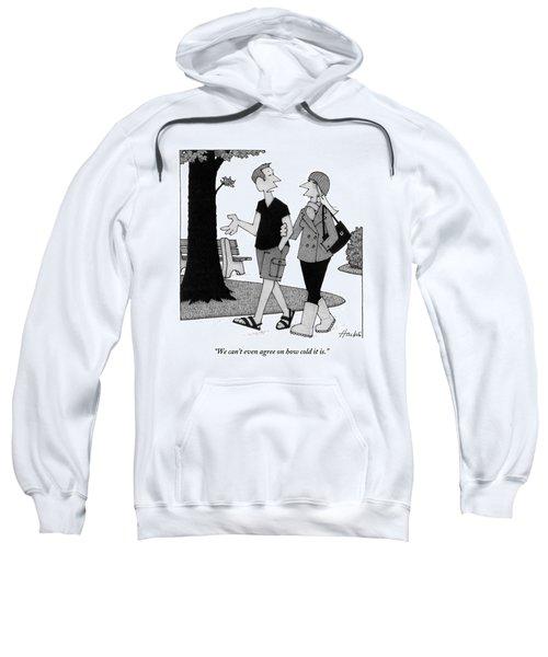 Couple Taking Walk Sweatshirt