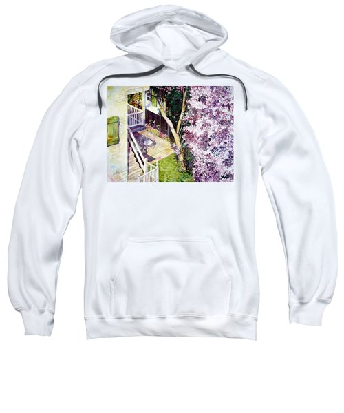 Courtyard With Cherry Blossoms Sweatshirt