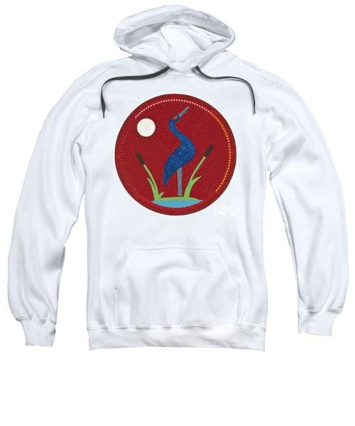 Cradleboard Beadwork Summer Crane Sweatshirt