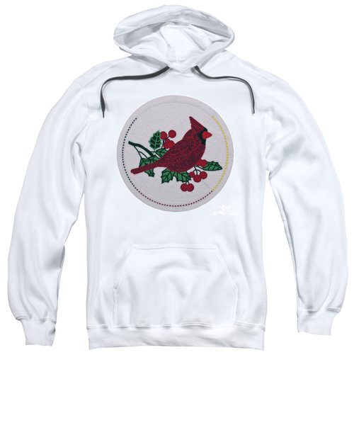 Cradleboard Beadwork Winter Cardinal Sweatshirt