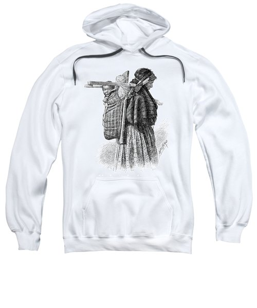 Cree Indian Squaw And Papoose Sweatshirt