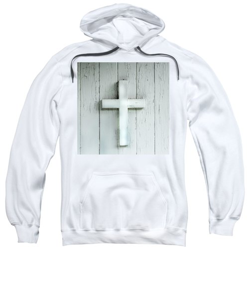 Cross On Holy Angels Sugar Island Michigan Sweatshirt