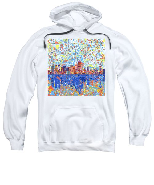 Dallas Skyline Abstract 5 Sweatshirt