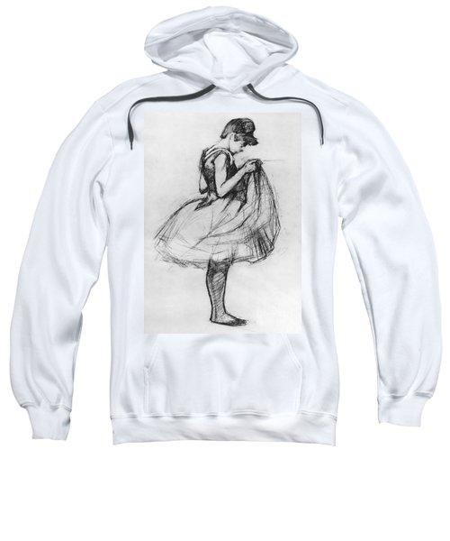 Dancer Adjusting Her Costume And Hitching Up Her Skirt Sweatshirt