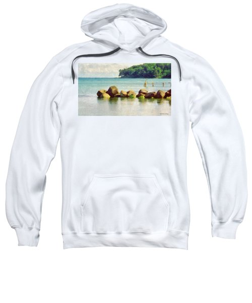 Danish Coast On The Rocks Sweatshirt