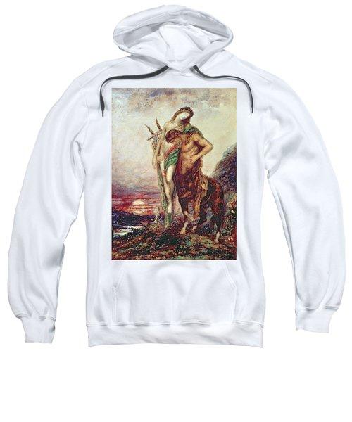 Dead Poet Borne By Centaur Sweatshirt by Gustave Moreau