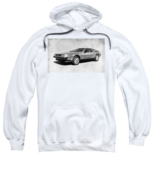 Delorean In Black And White Sweatshirt