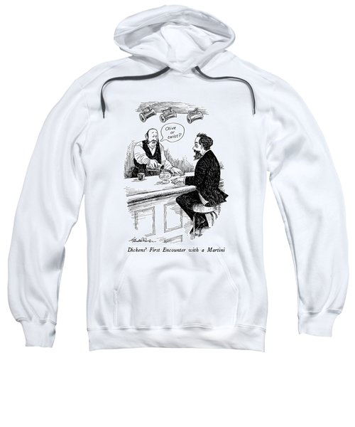 Dickens' First Encounter With A Martini Sweatshirt