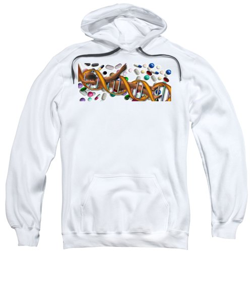 Dna Surrounded By Pills Sweatshirt