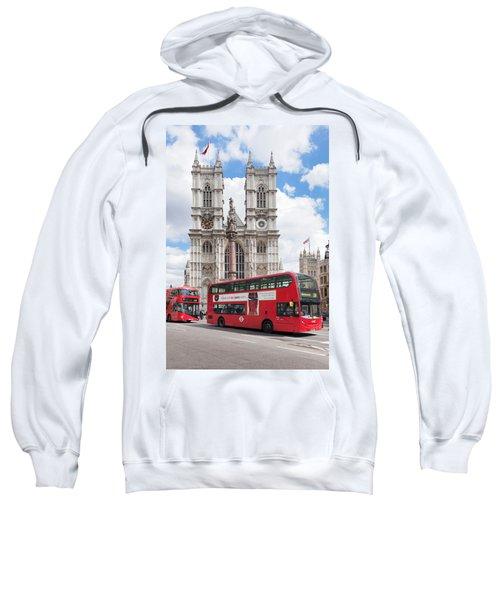 Double-decker Buses Passing Sweatshirt