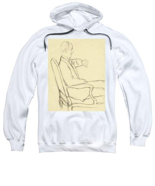 Drawing Of Man Looking At His Watch Sweatshirt