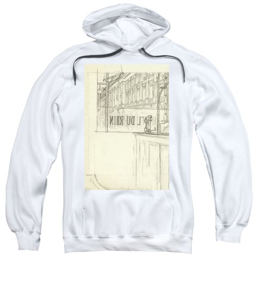 Drawing Of A Bar And Front Window Of Hotel Du Rhin Sweatshirt