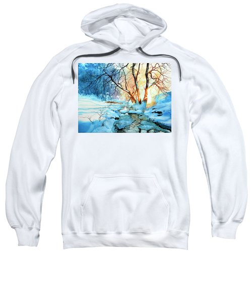 Sweatshirt featuring the painting Drawn To The Sun by Hanne Lore Koehler