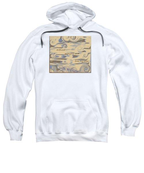 Sweatshirt featuring the digital art Driftwood Haiga by Judi Suni Hall
