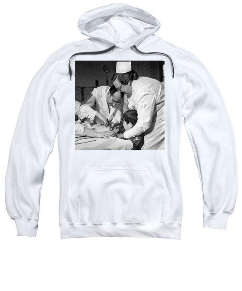 Dr.jonas Salk Giving Vaccine Sweatshirt