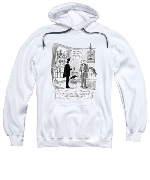 Edgar Allan Poe Returns A Christmas Gift Sweatshirt