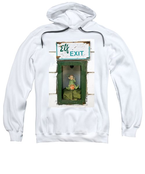 elf exit, Dubuque, Iowa Sweatshirt