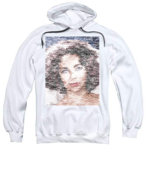 Elizabeth Taylor Typo Sweatshirt by Taylan Apukovska