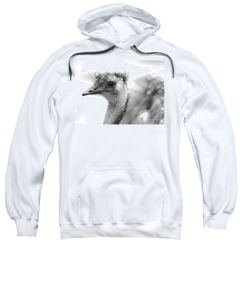 Emu - Black And White Sweatshirt by Carol Groenen