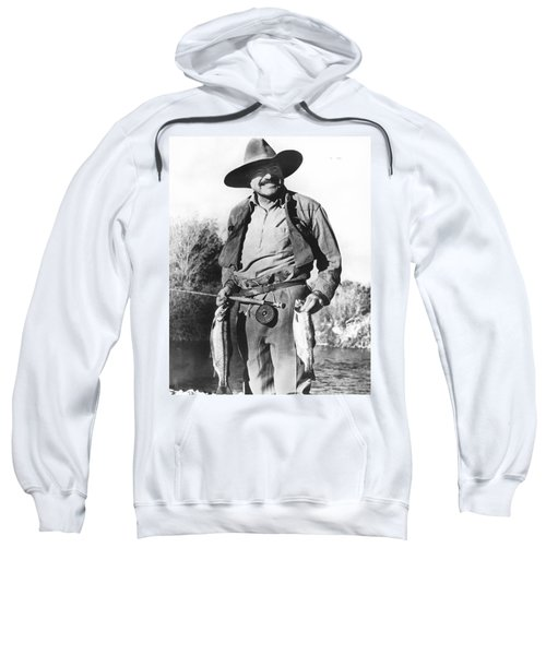 Ernest Hemingway Fishing Sweatshirt