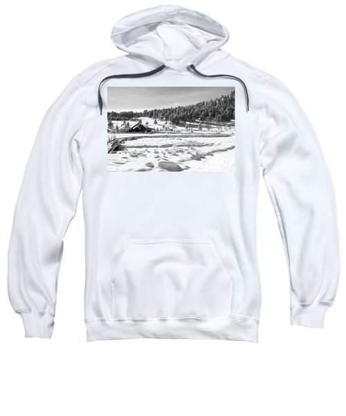 Evergreen Lake House In Winter Sweatshirt