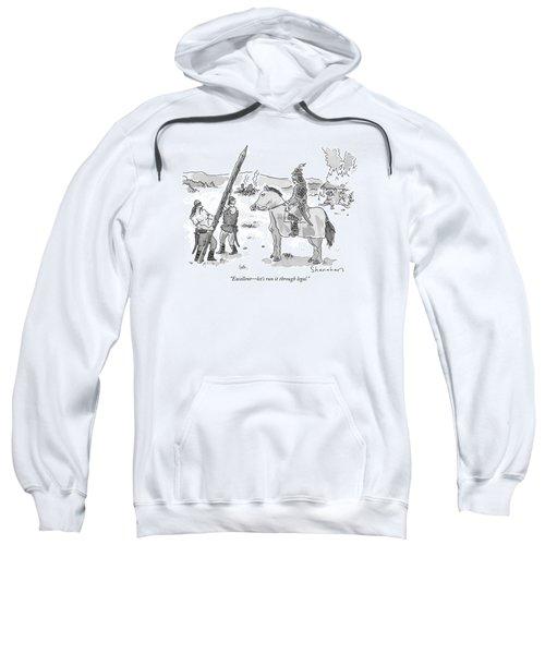 Excellent - Let's Run It Through Legal Sweatshirt