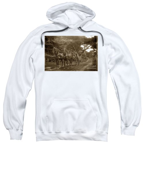 Family Out Carriage Ride On The 17 Mile Drive In Pebble Beach Circa 1895 Sweatshirt