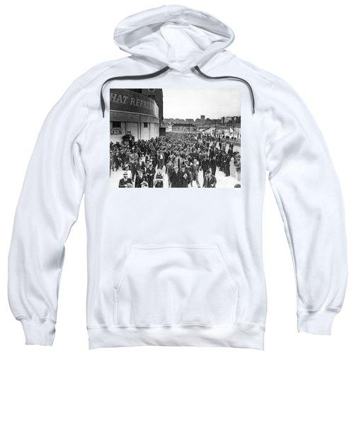 Fans Leaving Yankee Stadium. Sweatshirt by Underwood Archives