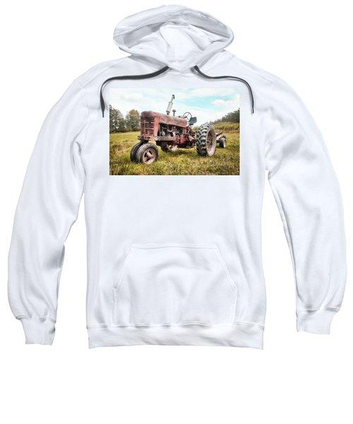 Farmall Tractor Dream - Farm Machinary - Industrial Decor Sweatshirt
