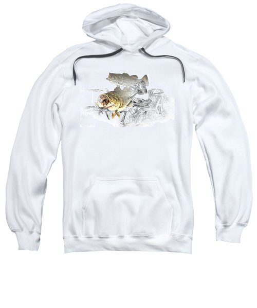 Feeding Largemouth Black Bass Sweatshirt