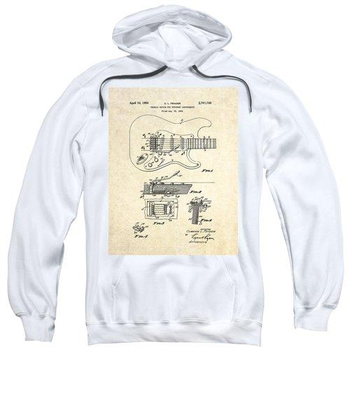 1956 Fender Tremolo Patent Drawing I Sweatshirt