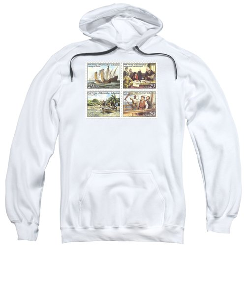 First Voyage Of Christopher Columbus Commemorative Stamp Block Sweatshirt