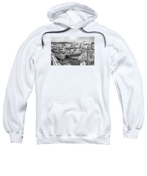 Fishing Boats B W Sweatshirt