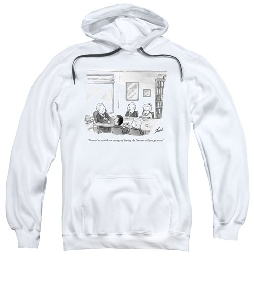Five People Sit Around A Conference Table Sweatshirt