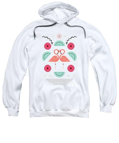 Flamingo Flutter Sweatshirt by Susan Claire