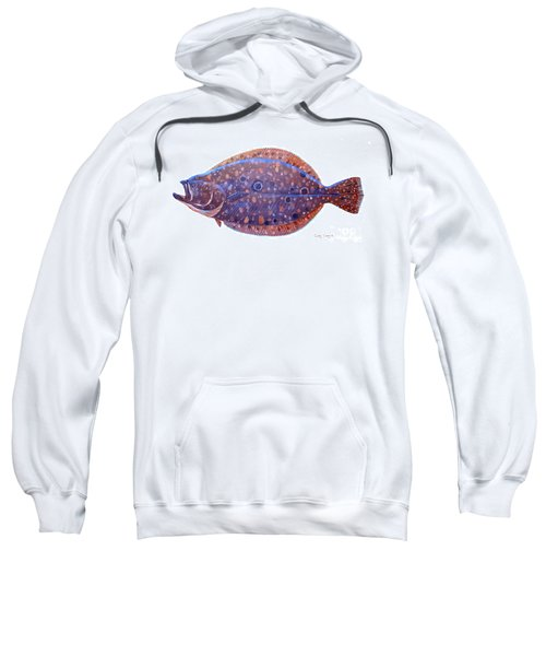 Flounder Sweatshirt by Carey Chen