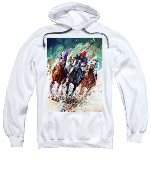 Sweatshirt featuring the painting For The Roses by Hanne Lore Koehler