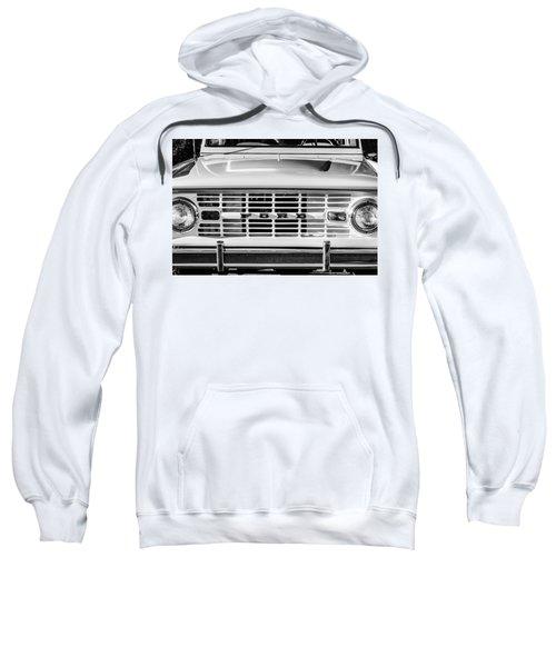 Ford Bronco Grille Emblem -0014bw Sweatshirt