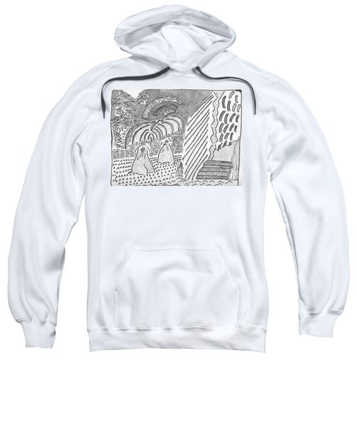 Forest Light Beams Sweatshirt