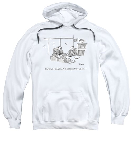 Four Lawyers Speak At A Conference Table Sweatshirt